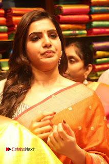 Actress Samantha Pictures in Saree at South India Shoping Mall Launch 0252