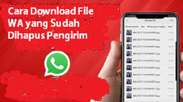 Cara Download File WA yang Sudah Dihapus Pengirim