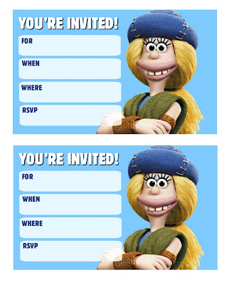 Early Man 2018 free birthday printables