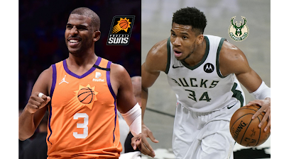 Chris Paul Phoenix Suns vs Bucks