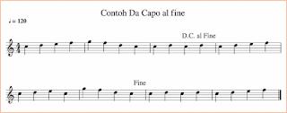 gambar contoh notasi da capo al fine