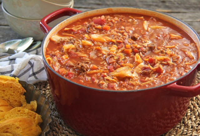 Cabbage Roll Soup #dinner #soup