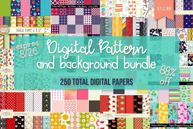 digital patterns, digital pattern projects, print and cut, pattern fills, custom patterns
