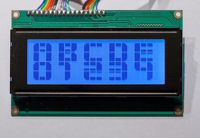 Displaying large text on LCD displays