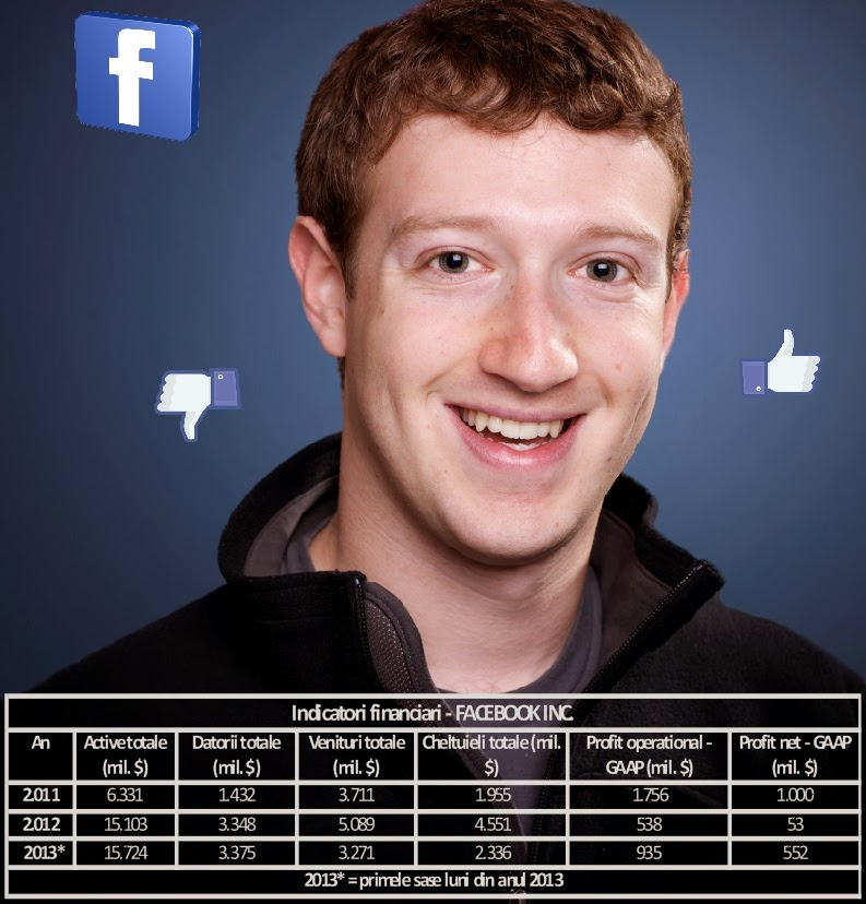 Situațiile financiare Facebook Inc 2011 2012 2013