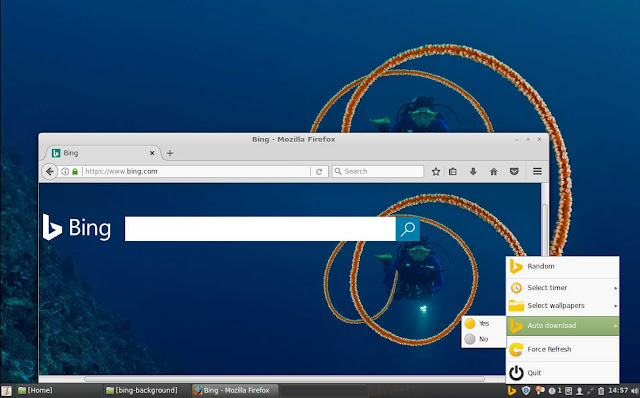 Cara Menggunakan Bing Wallpaper Sebagai Background Desktop Linux Mint, Ubuntu, Debian Secara Otomatis