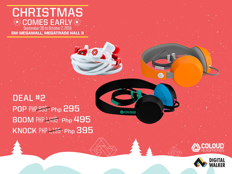 Crazy Coloud headphones sale!