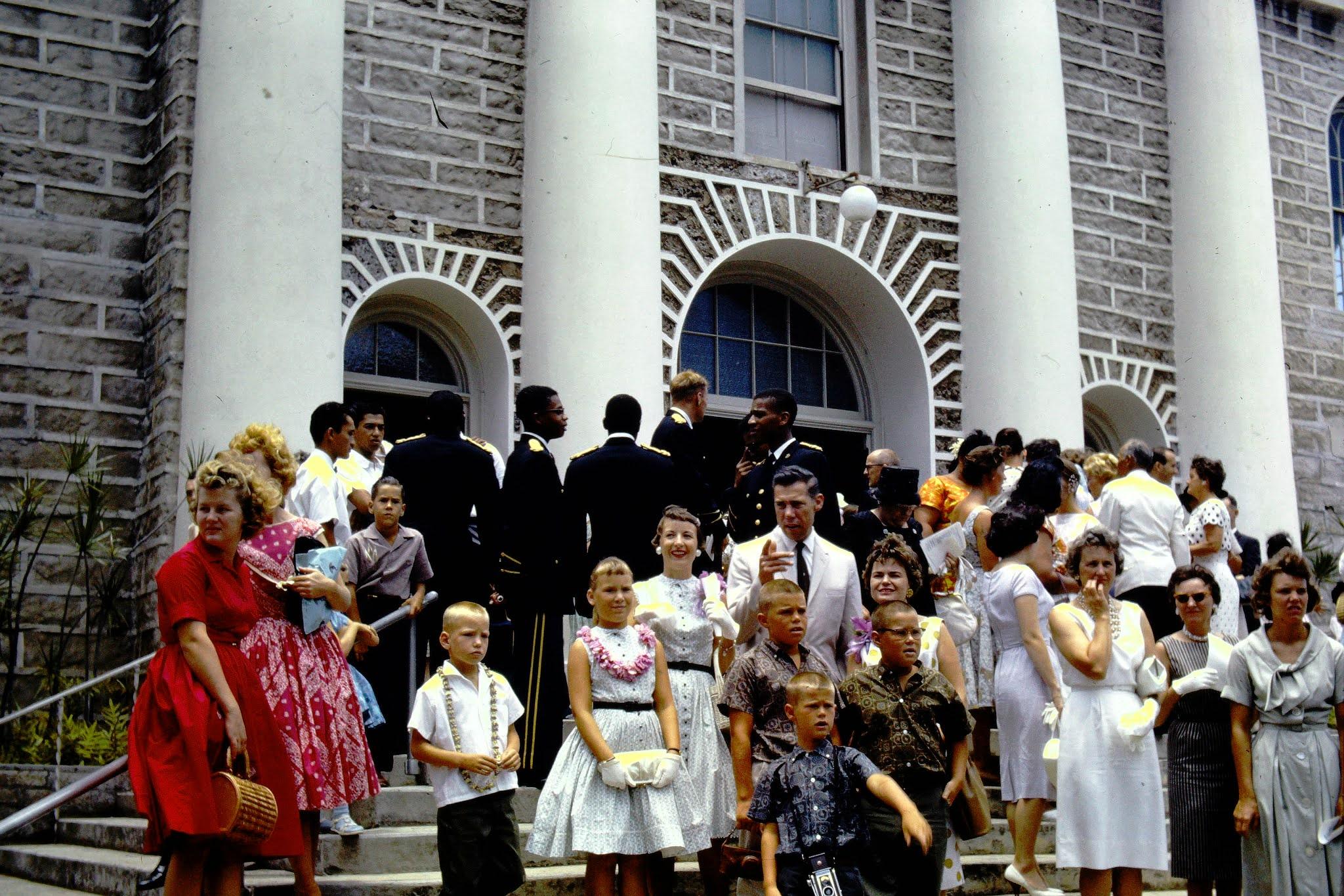 Worshippers Haiwiian Church - 1961