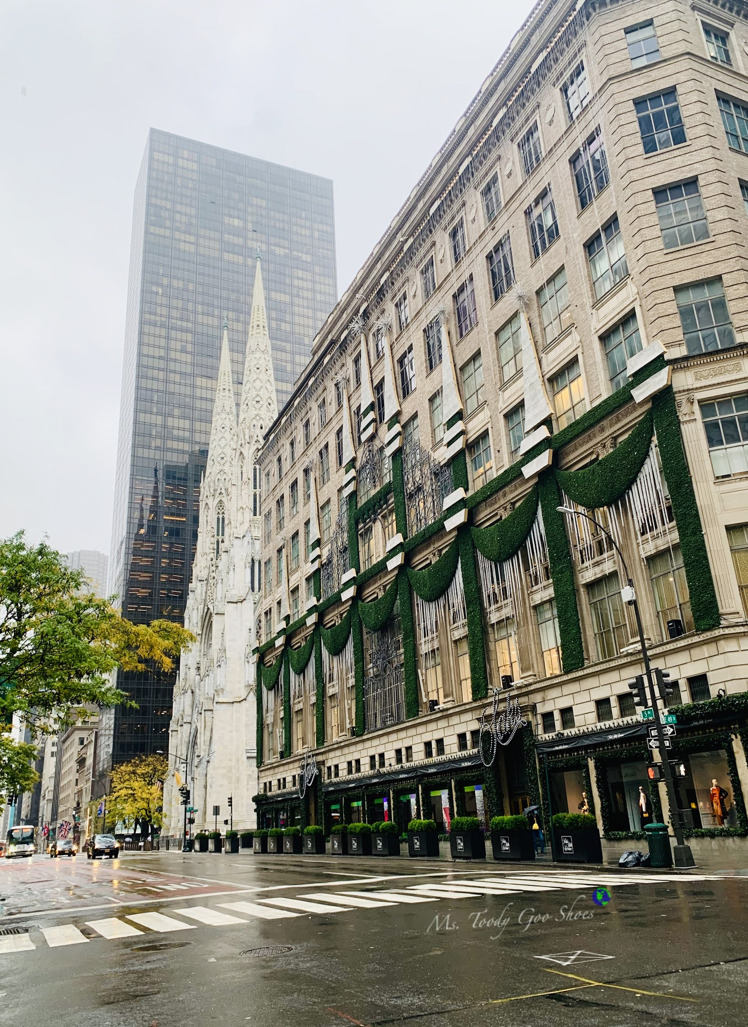 Saks Fifth Avenue is a must-see holiday site in New York City. | Ms. Toody Goo Shoes
