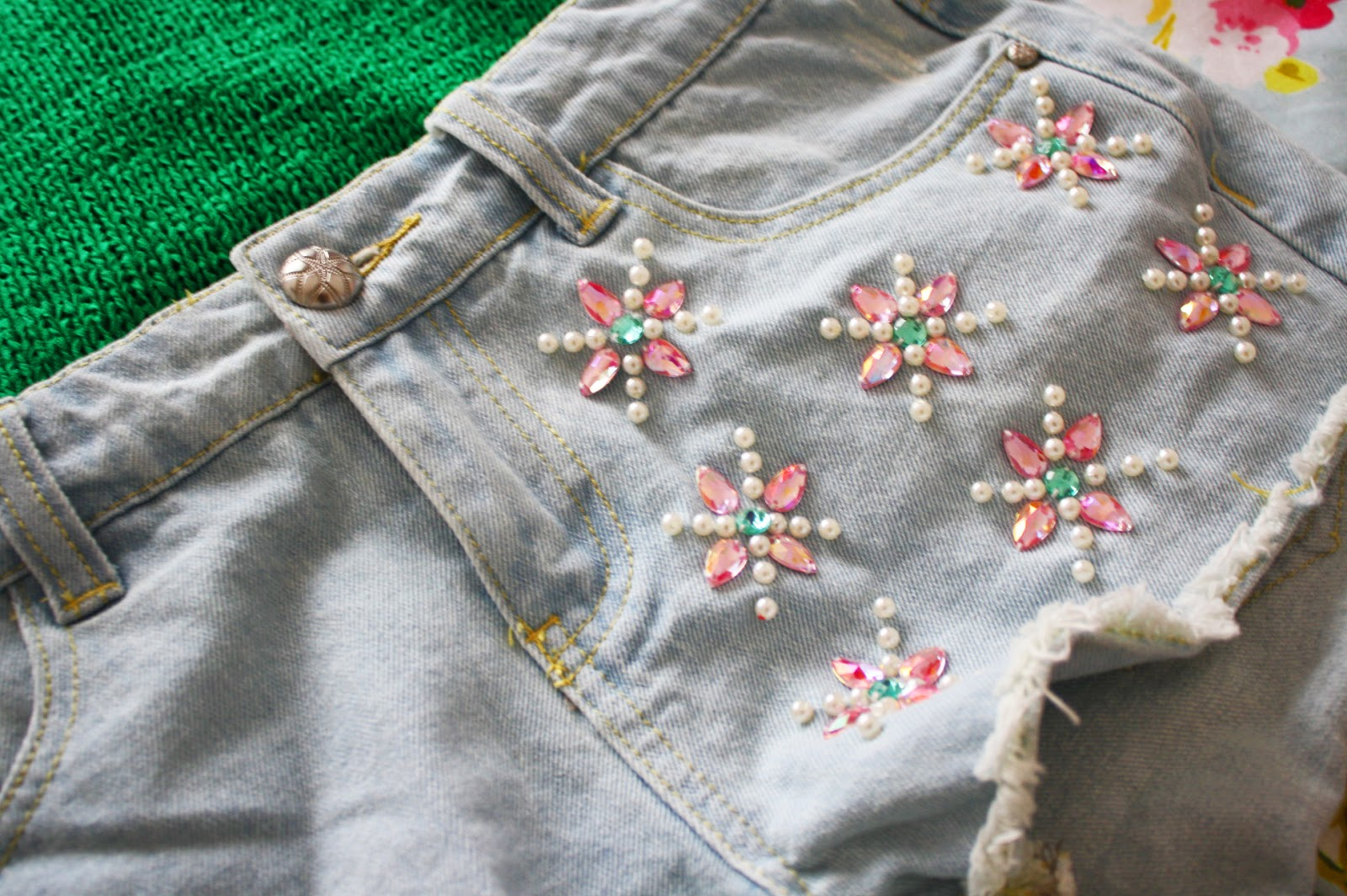 Cute detailing on a denim pair of shorts from Primark