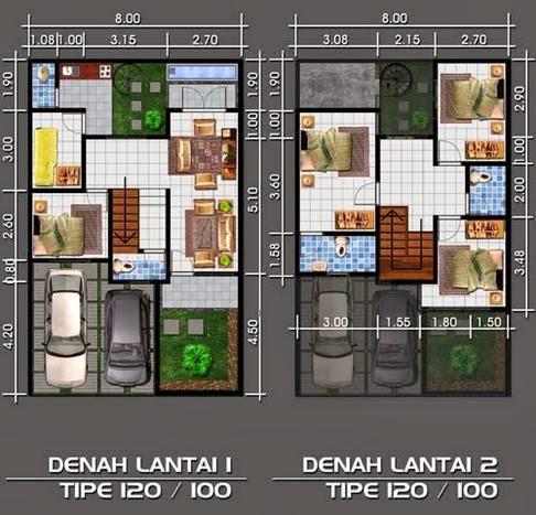 rumah minimalis cat hitam putih: terbaru: denah rumah type