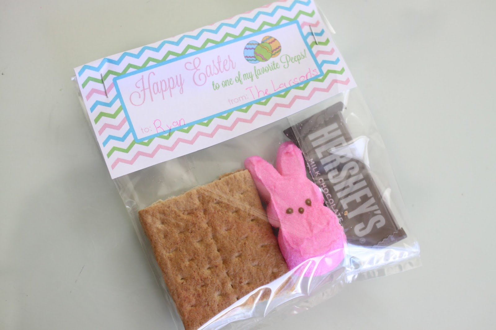 The Larson Lingo: Easter Peeps S'mores Free Printable