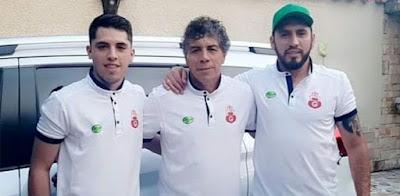 'Copito' Andrada (centro) dejó de ser DT de Guabirá.