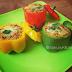 baked stuffed capsicum recipe | bharwan shimla mirch recipe | baked stuffed bell peppers recipe
