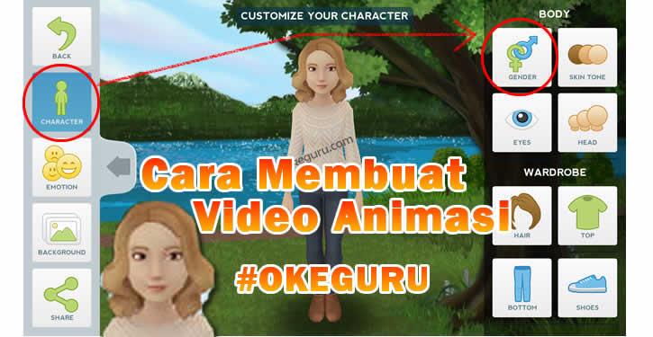 Cara Membuat Video Animasi Untuk Pembelajaran Menggunakan Tellagami Tutorial Okeguru