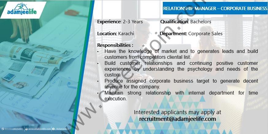Adamjee Insurance Company Ltd Jobs July 2021