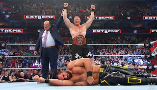 WWE - Se desató la locura en Extreme Rules: Lesnar, AJ Styles, The New Day y Nakamura nuevos campeones