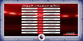 نتائج مباريات اليوم السبت 31 أكتوبر 2020 في كل البطولات
