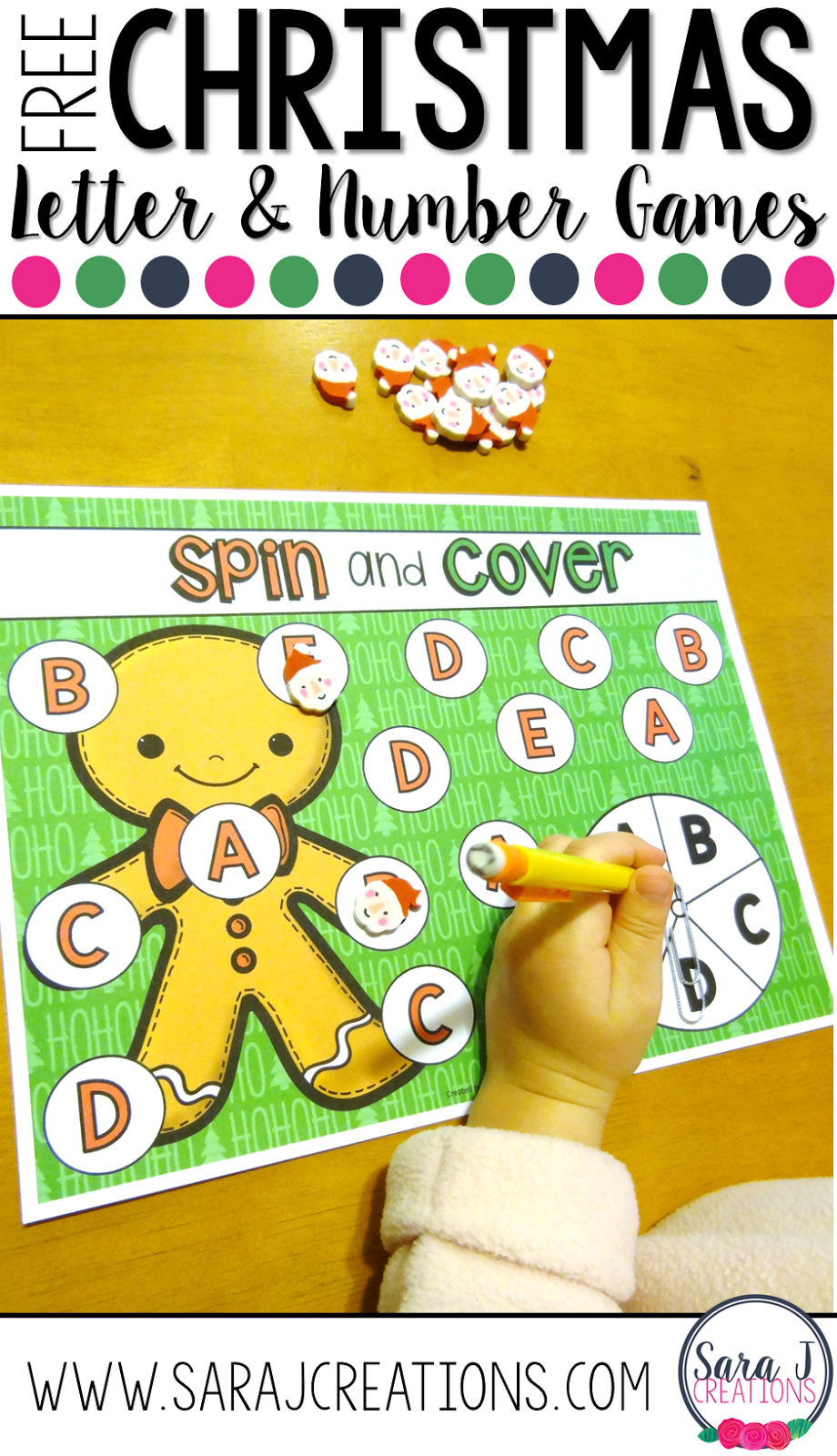 Free Christmas alphabet and number practice games