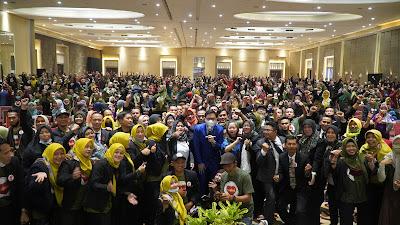 Seminar Motivasi New Normal 1000 peserta yang sudah diswab bersama Motivator Muda Indonesia Edvan M Kautsar dan BBS Enagic Kangen Water Bandung Jawa Barat Offline Online Pandemi