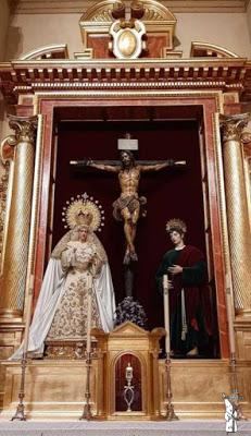 Los Titulares de la Hermandad de la Sed de Sevilla regresan a su retablo tras diferentes mejoras