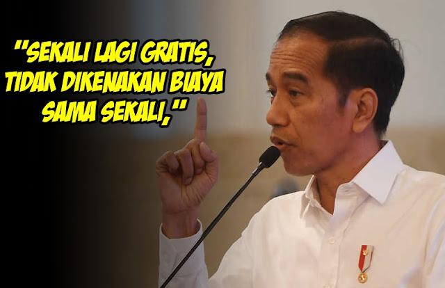 Jokowi Kembali Menyatakan: Vaksin Gratis Buat Semua, Tak Terkait BPJS, Sekali Lagi GRATIS!