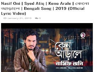 Keno Arale কেনো আড়ালে Lyrics By Nasif Oni Ft Apurba Natok Song download