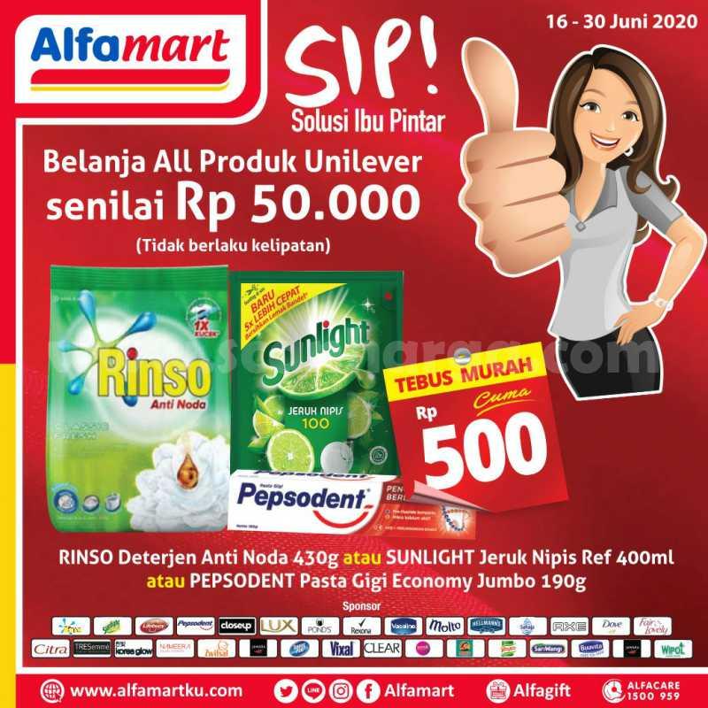 Promo Alfamart SIP Solusi Ibu Pintar Tebus Murah Cuma Rp 500 Periode 16 - 30 Juni 2020