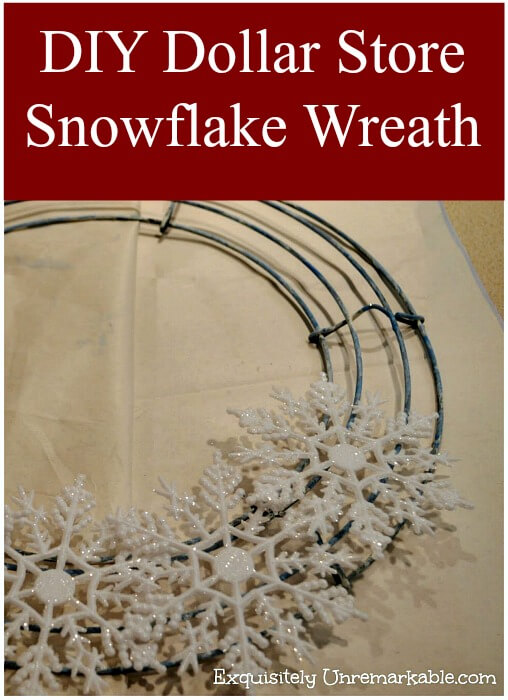 DIY Dollar Store Snowflake Wreath