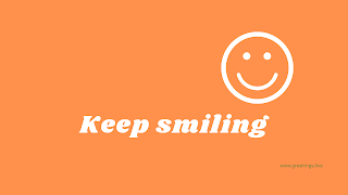 Keep smiling Desktop Wallpaper images with orange color background
