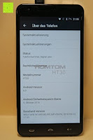 "über das Telefon: HOMTOM HT30 3G Smartphone 5.5""Android 6.0 MT6580 Quad Core 1.3GHz Mobile Phone 1GB RAM 8GB ROM Smart Gestures Wake Gestures Dual SIM OTA GPS WIFI,Weiß"
