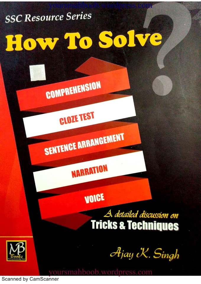 SSC CGL Tier 2 Voice And Narration Book PDF Free Download