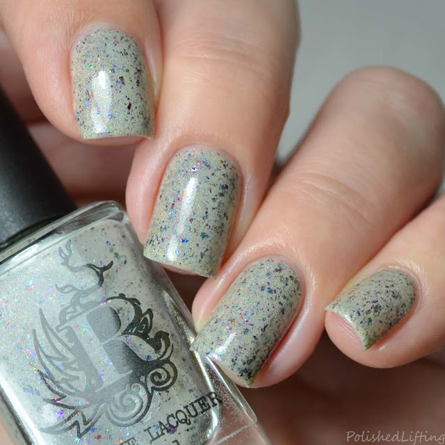 off white crelly ucc flakie nail polish