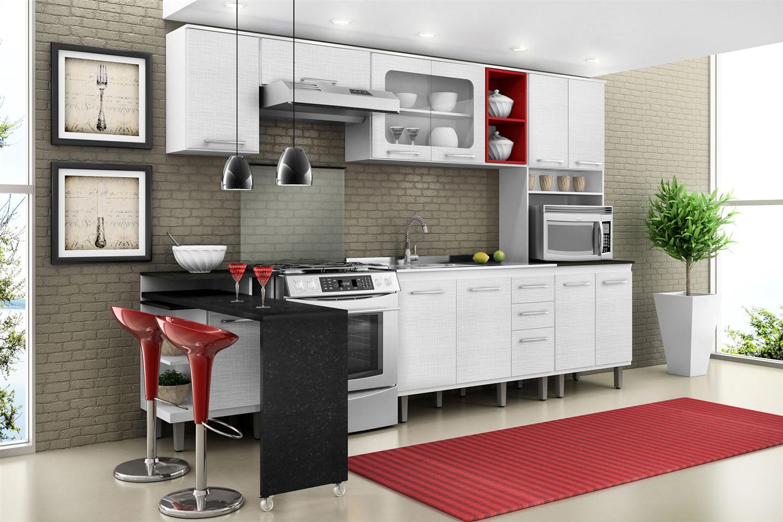 Cozinha Planejada Com Mesa Na Parede Modelos De Cozinha Americana