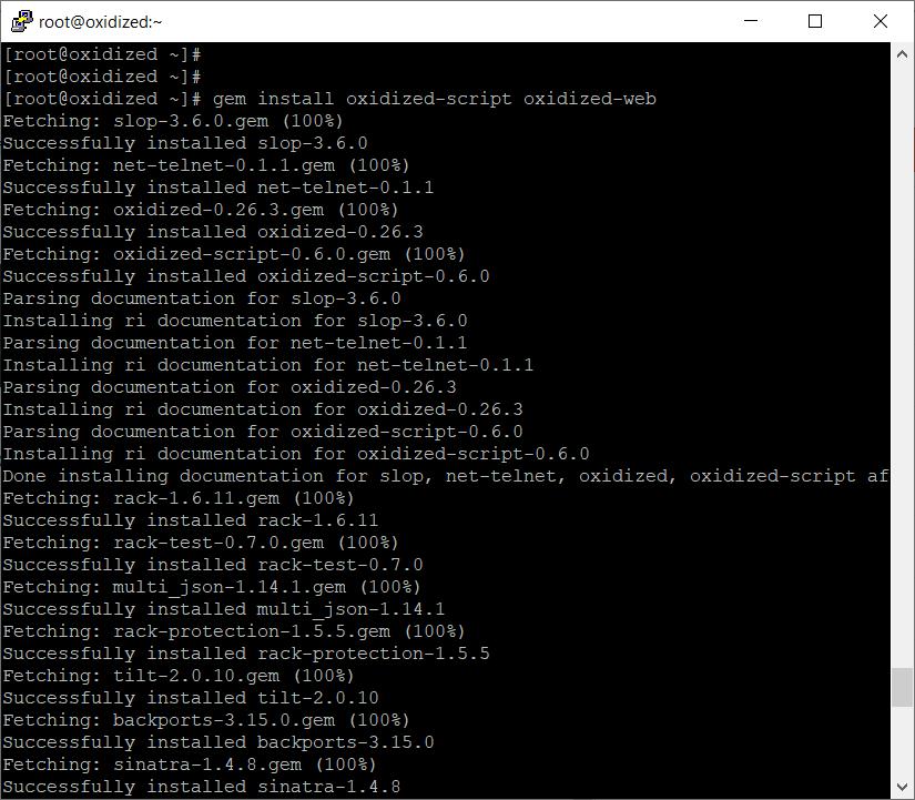 gem install oxidized-script oxidized-web