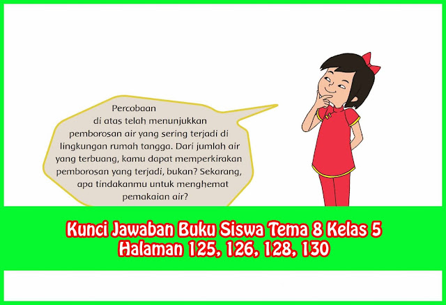 Kunci Jawaban Tema 8 Kelas 5 Halaman 125, 126, 128
