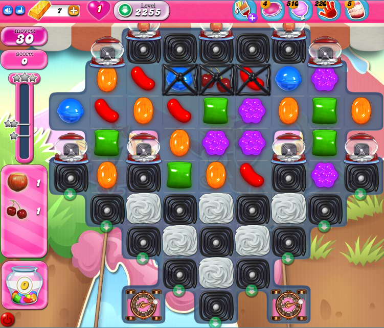 Candy Crush Saga level level 2255