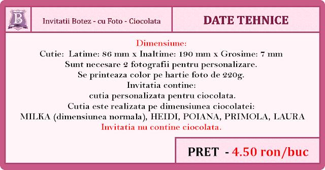 invitatii botez cutie de ciocolata