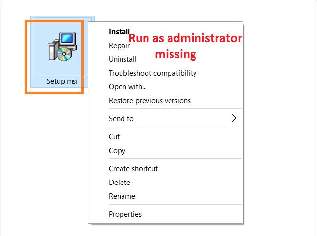 how to add  u0026 39 run as administrator u0026 39  to msi files