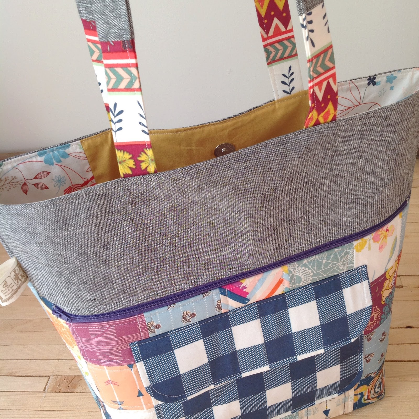 The Floral Suitcase: {caravan tote + tilly}