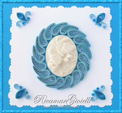 Quilling card con Cammeo