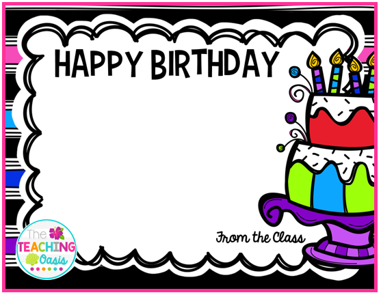 The teaching oasis made it monday 8816 i saw this class student birthday card from teaching maddeness i decided to incorporate this idea into my classroom this year bookmarktalkfo Choice Image