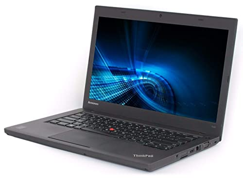 (Renewed) Lenovo Thinkpad T440-i5-4 GB-240 GB SSD 14-inch Laptop (4th Gen Core i5/4GB/240GB SSD/Windows 7/Integrated Graphics), Black