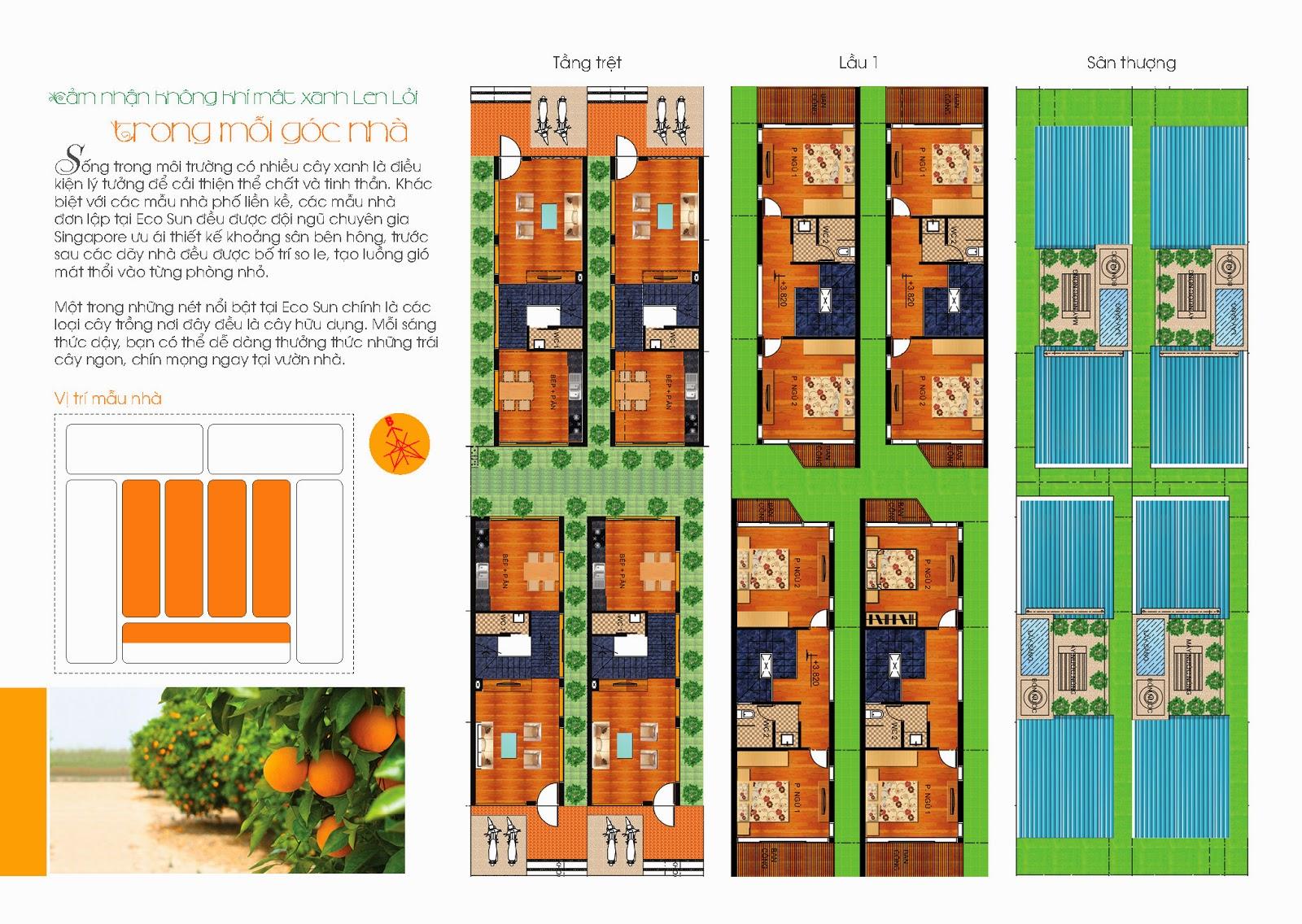 4 nhà mẫu thông minh dự án Ecosun Nhơn Trạch Đồng Nai