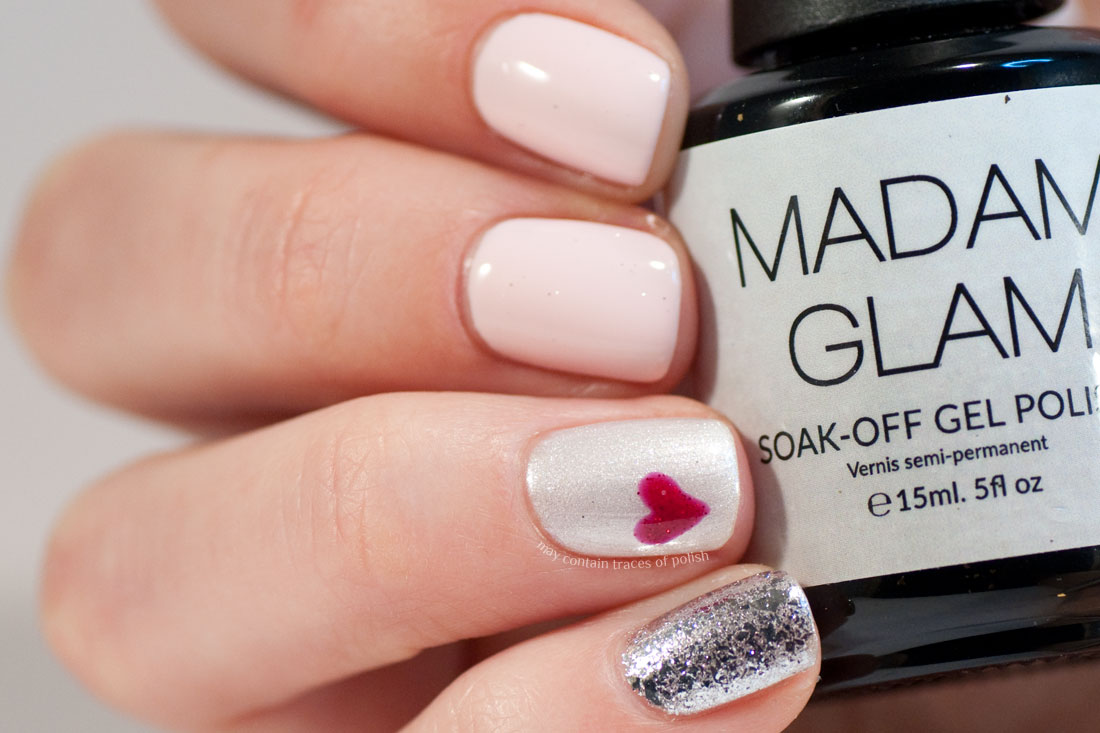 Easy Valentine's Day Soak off Gel nail art