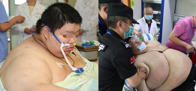 Berat cecah 280KG semasa perintah berkurung, lelaki ini diisytiharkan paling gemuk di Wuhan
