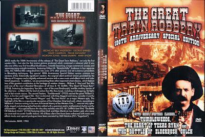 Carátula dvd: Asalto y robo de un tren
