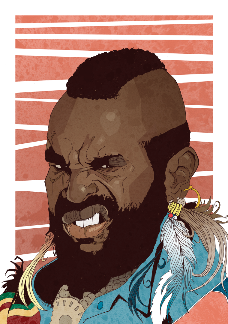 Illustrated artwork Mr. T