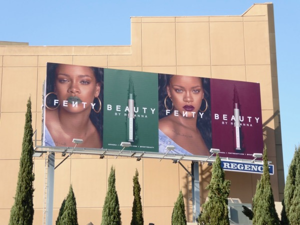 Fenty Beauty Rihanna 2018 lipstick billboard