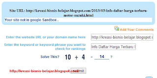 Google Sandbox Checker Tool
